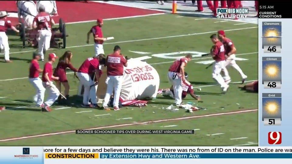 PETA Says OU Should Remove Horses From Football Field After 'Sooner Schooner' Crash