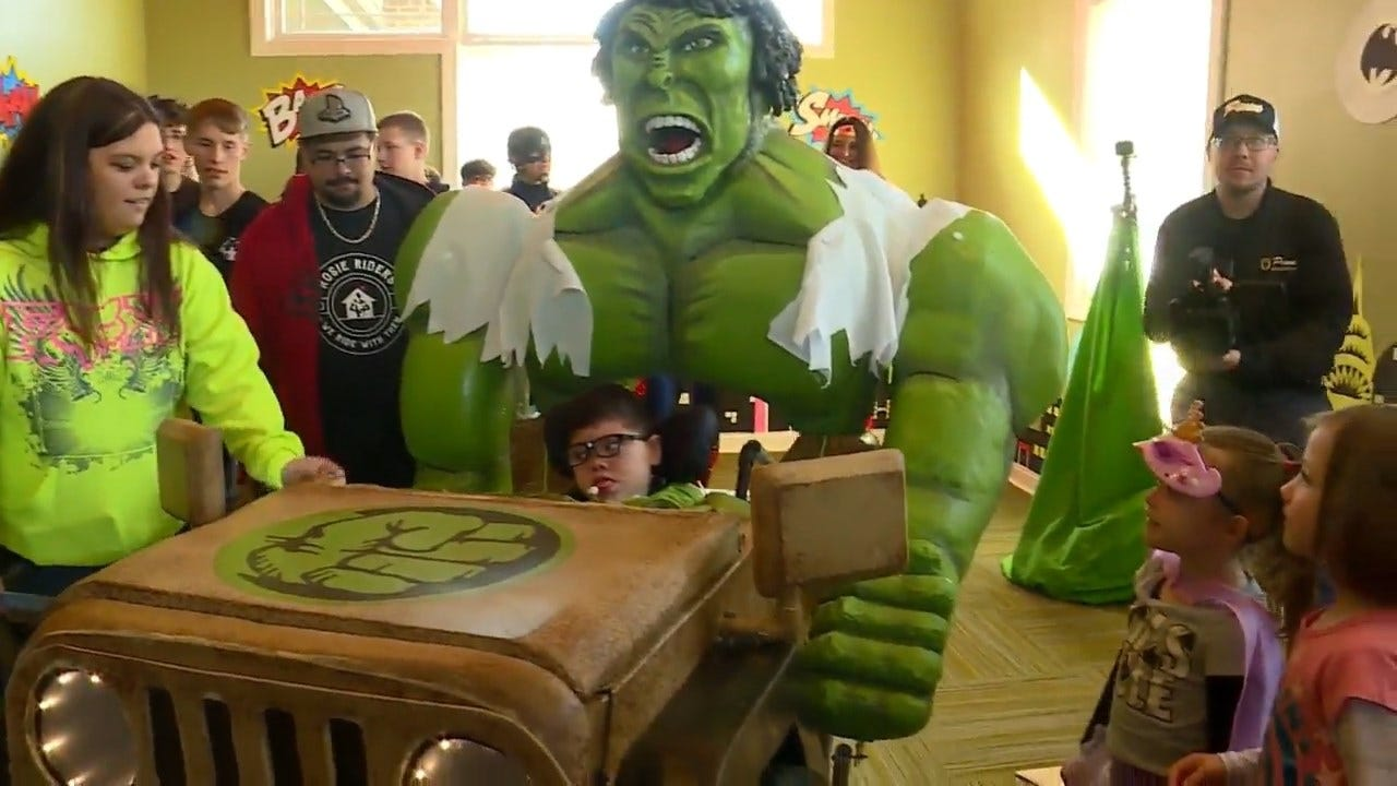 WATCH: Students Create Hulk Costume For Indiana Boy In A Wheelchair