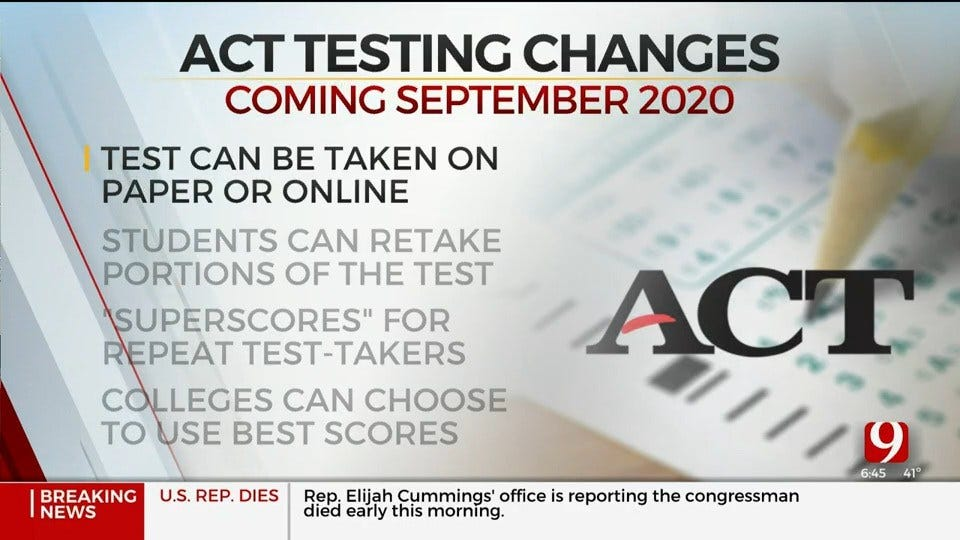 OKCPS, Colleges Respond To ACT Test Changes
