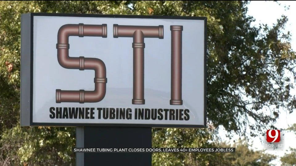 Shawnee Tubing Plant Closes Abruptly, Dozens Of Employees Without A Job