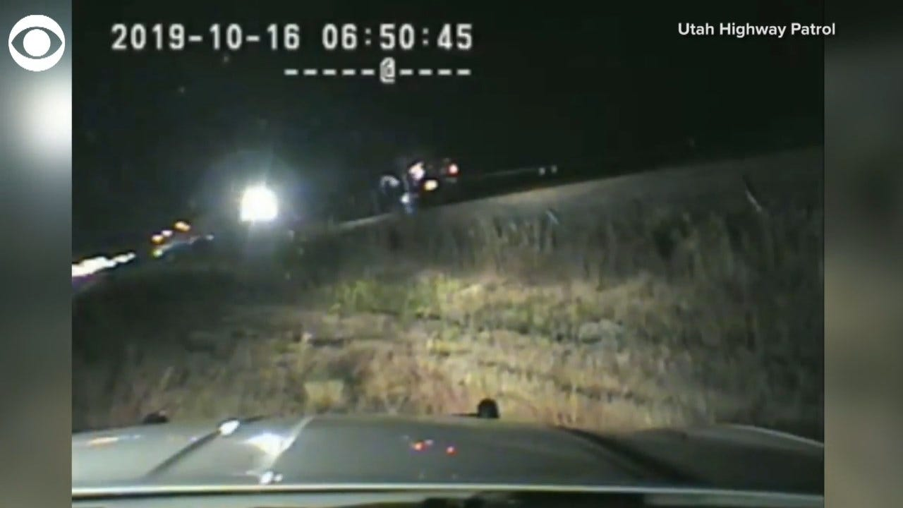 DRAMATIC VIDEO: Utah Trooper Saves Man Seconds Before Oncoming Train Smashes Vehicle