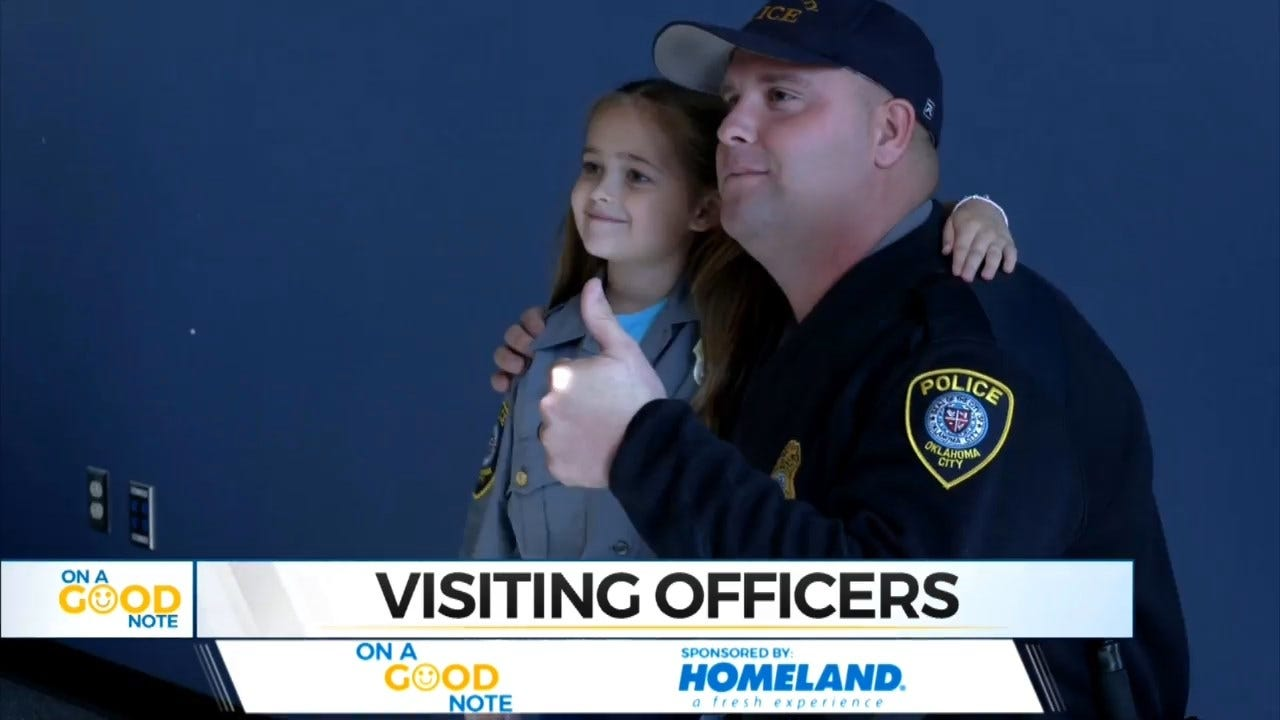On A Good Note: Girl, 6, Makes It Her Mission To Collect Photos With Officers