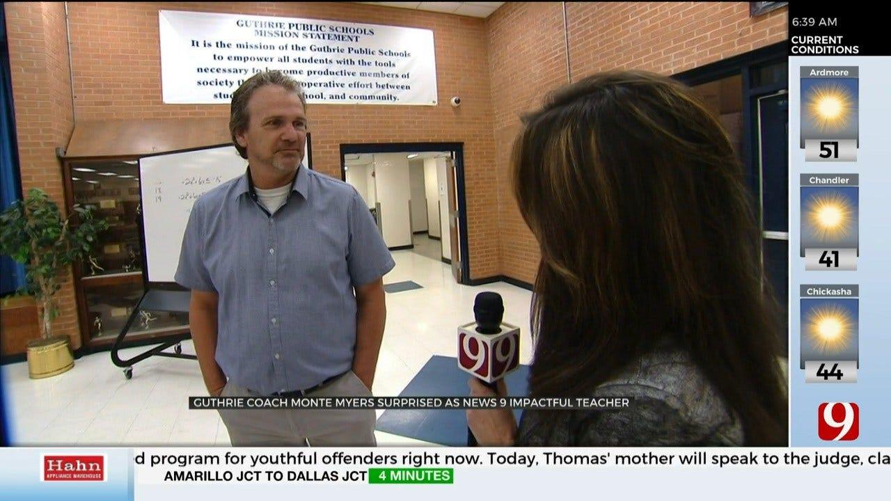 Guthrie Teacher Wins Impactful Teacher For October
