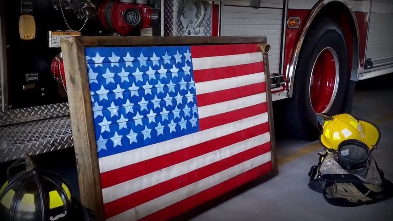 WATCH: Florida Firefighter Turns Old Fire Hoses Into Works Of Art