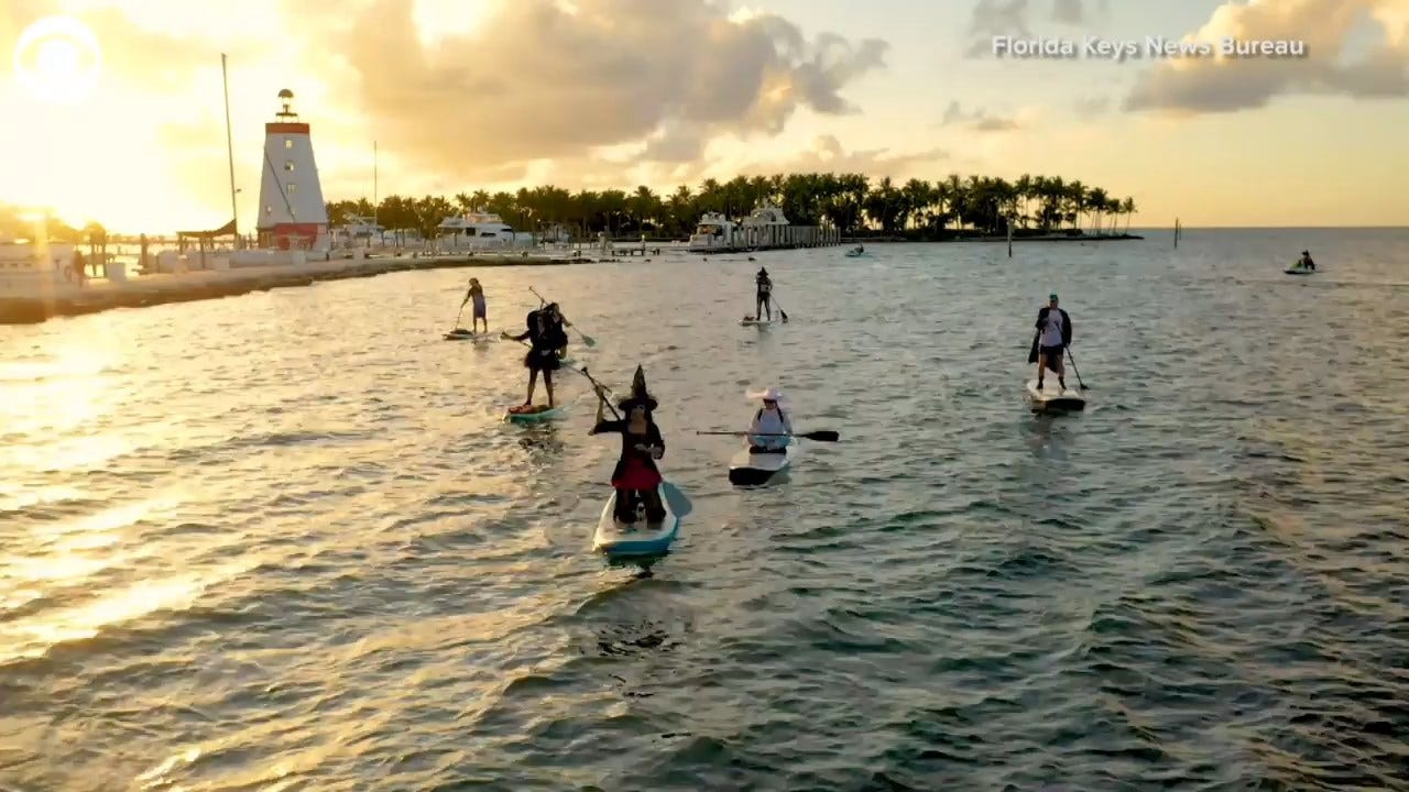 MUST SEE! Witches On Paddleboards