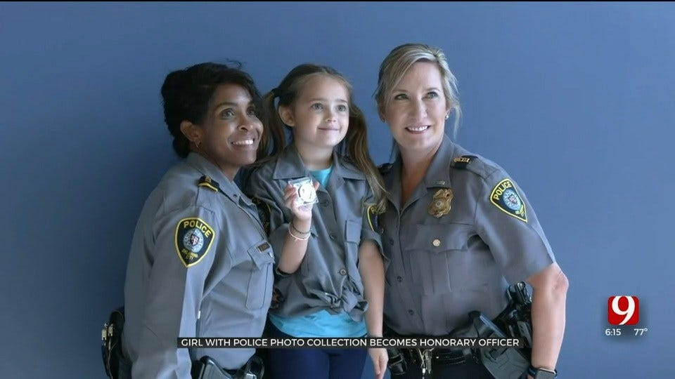 6-Year-Old Girl With Police Photo Collection Becomes Honorary Officer