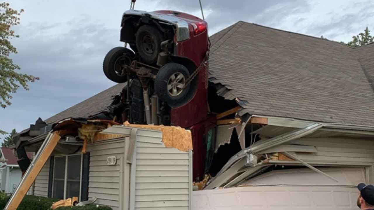 Caught On Camera: Truck Crashes Into Roof Of Wisconsin Condo