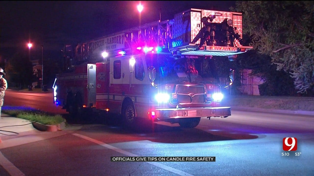 OKC Fire Officials Give Candle Fire Safety Tips As Temperatures Begin To Fall