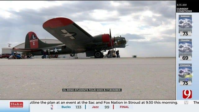 El Reno Students Tour WWII B-17 Bomber