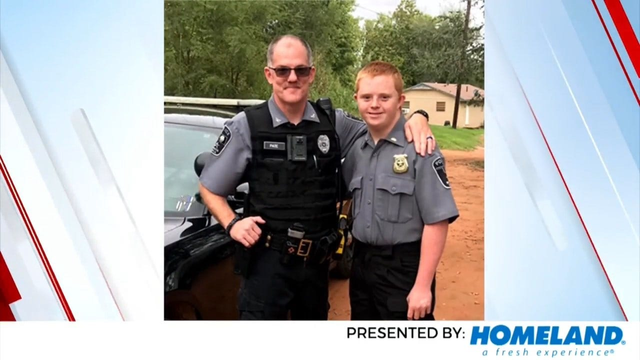 On A Good Note: Binger Boy Spends Special Moment With Local Officer