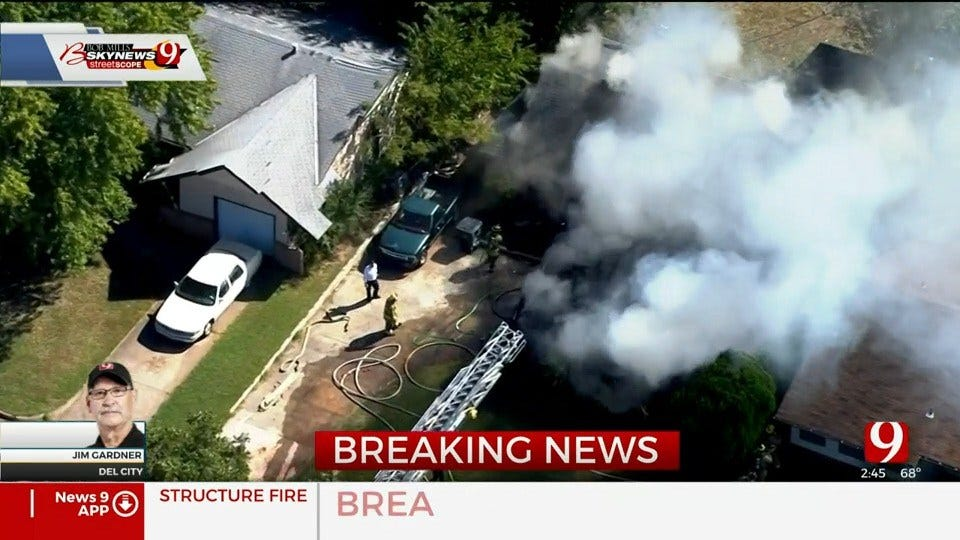 Fire Crews Battle House Fire In Del City