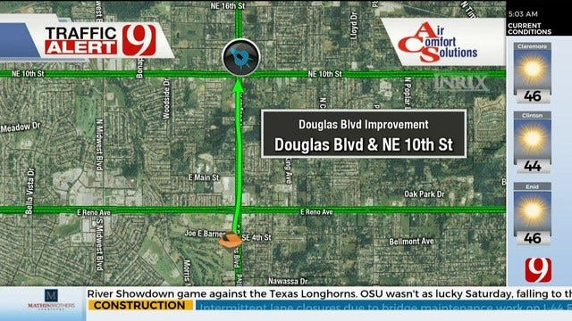 Construction To Begin Monday For Section Of Douglas Boulevard
