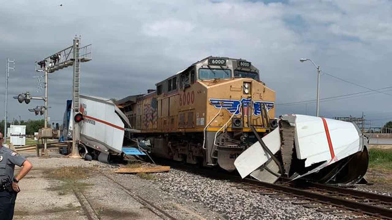 Police: Train Vs. Semi Crash Causes Traffic Issues In Enid