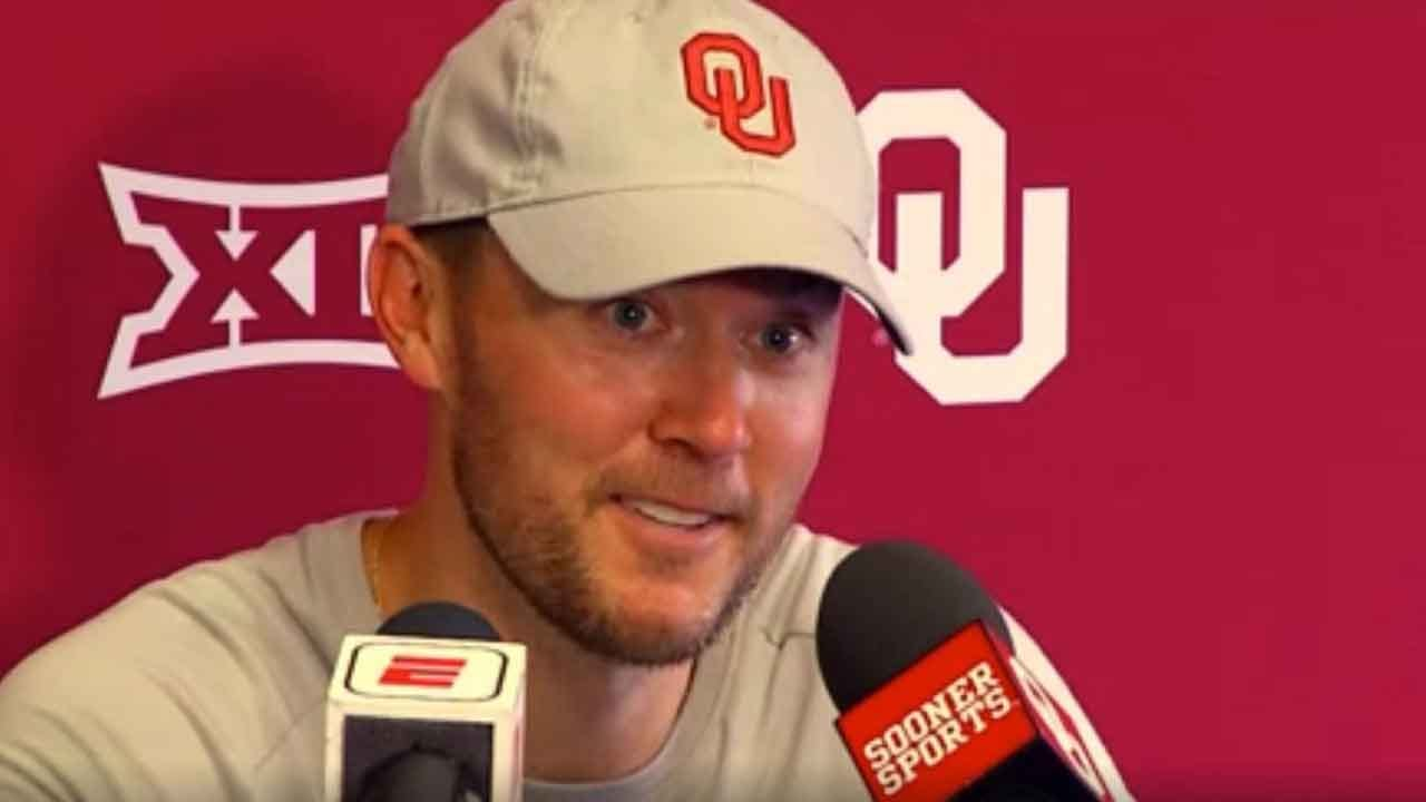 WATCH: OU's Lincoln Riley Has A Laugh After Toilet Flushes During Postgame Press Conference