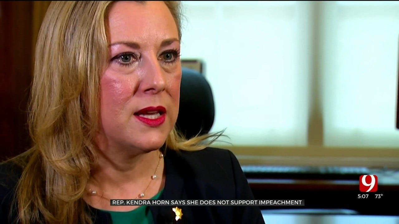 Rep. Kendra Horn Says She Does Not Support The Impeachment Inquiry Against President Trump