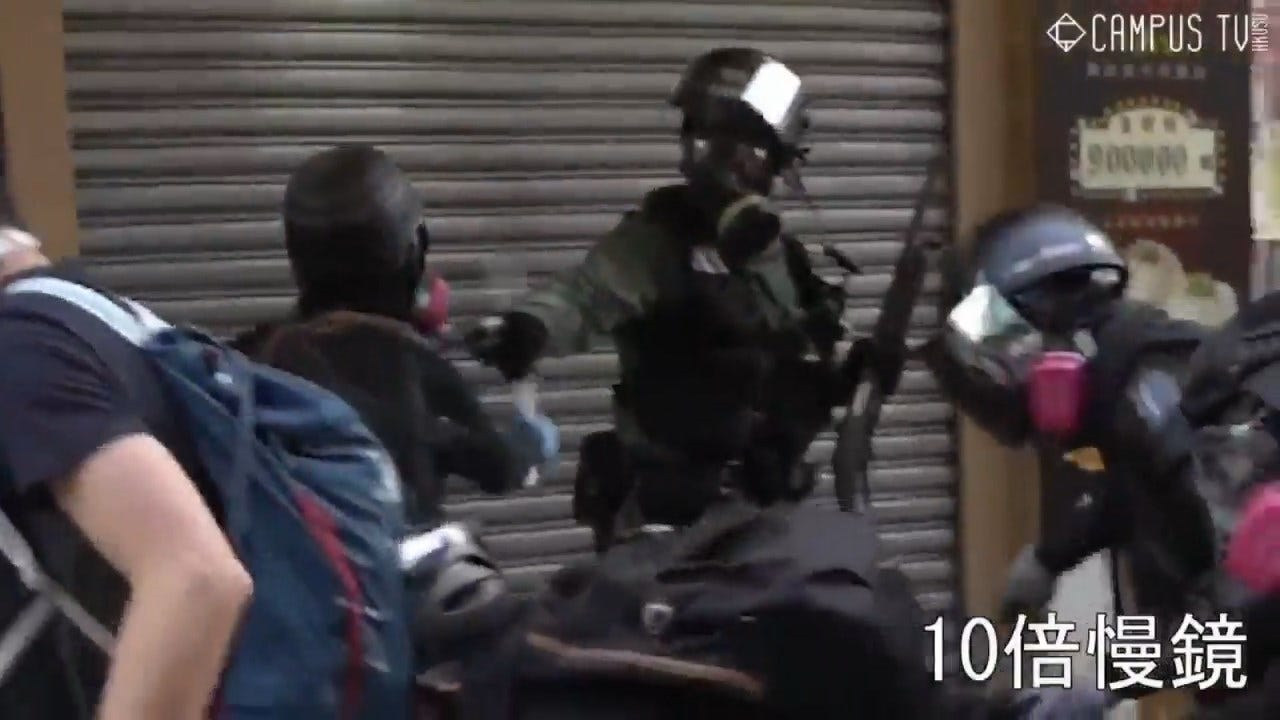 Police Shoots Protester At Point-Blank Range In Hong Kong