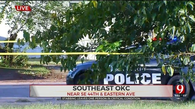 Man In Critical Condition After Stabbing In SE OKC
