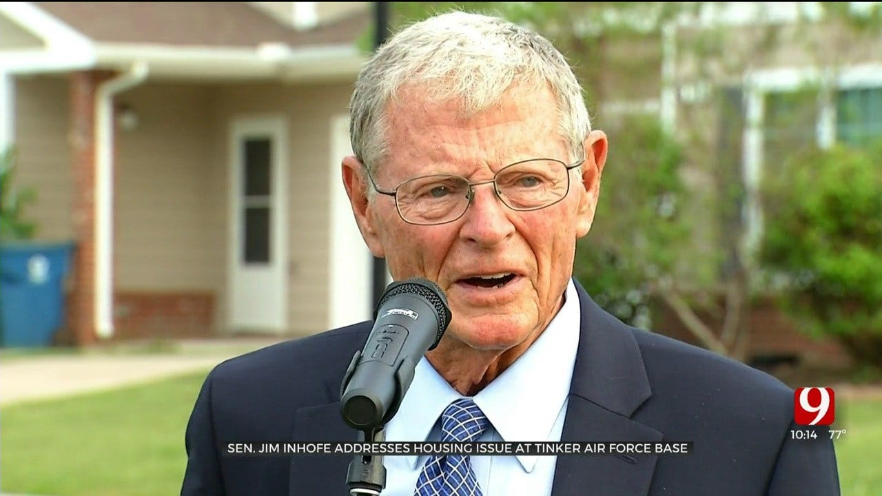 Senator Inhofe Addresses Housing Issue At Tinker AFB