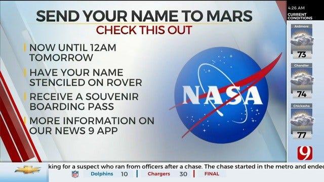 NASA Sending Names On Mars 2020 Rover Mission