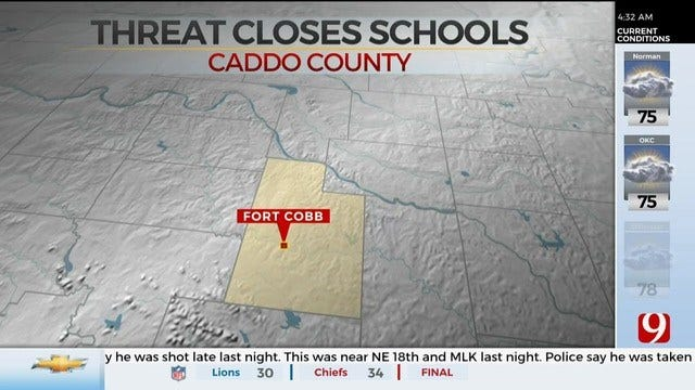 Fort Cobb-Broxton Public Schools Closed Monday Due To Threat