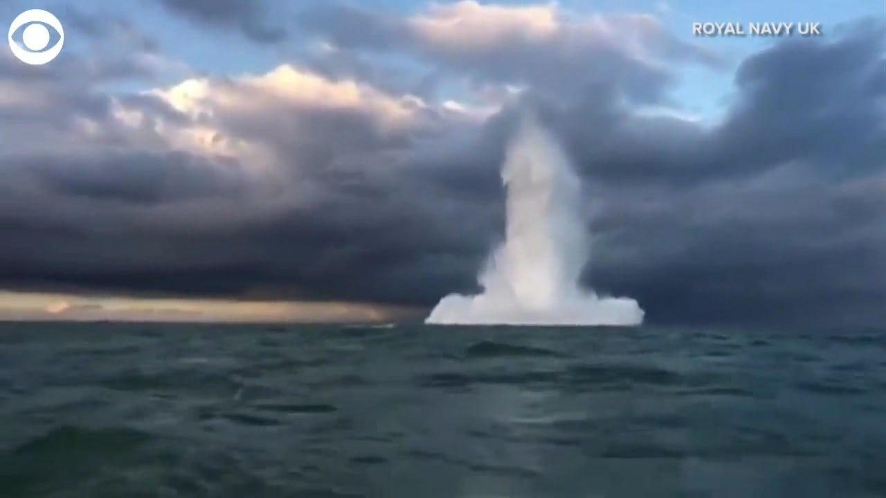 WATCH: WWII Bomb Detonated In Sea
