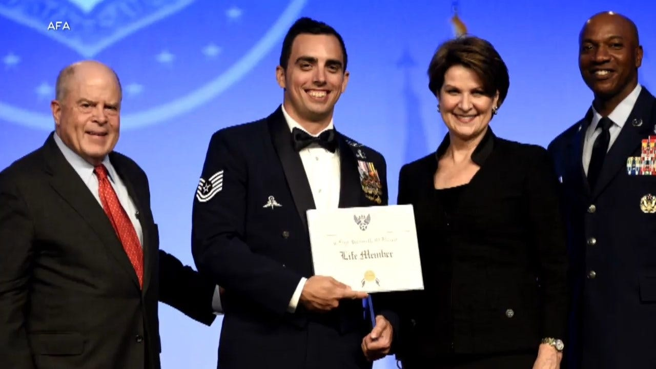 Airman Saves Child On Flight To Get Award For Heroism