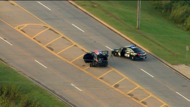 Bob Mills SkyNews 9 Flies Over Fatal Auto Pedestrian Accident