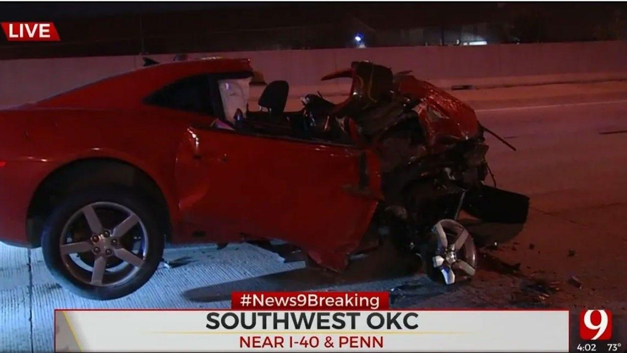 Woman Taken To Hospital After Crashing On I-40 Near Penn