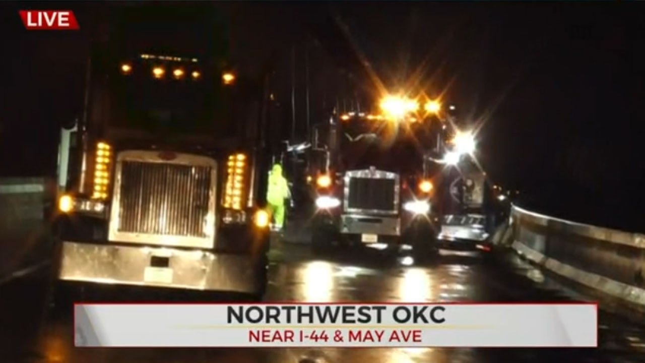 WB I-44 Ramp Closed At 39th Expressway Due To Overturned Semi