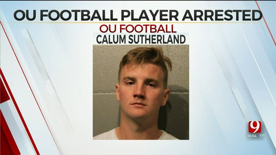 OU Football Player Calum Sutherland Arrested