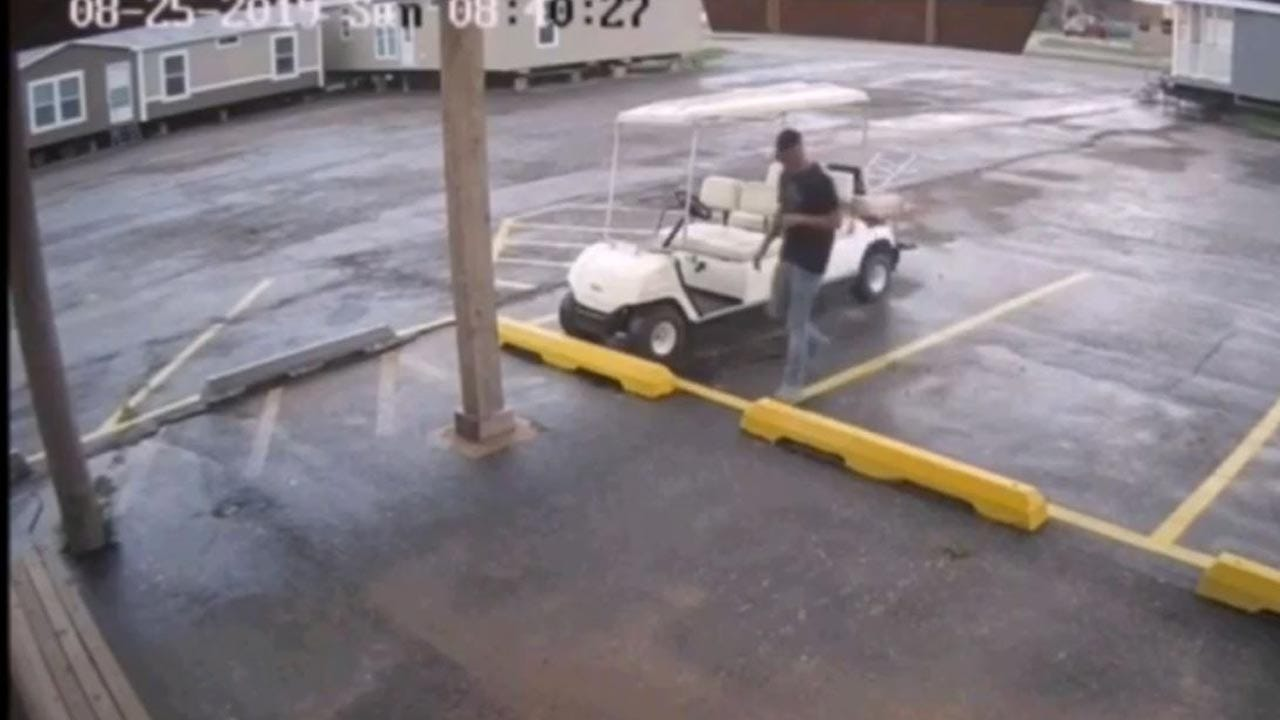 Caught On Camera: OKC Police Searching For Man Seen Stealing Golf Cart