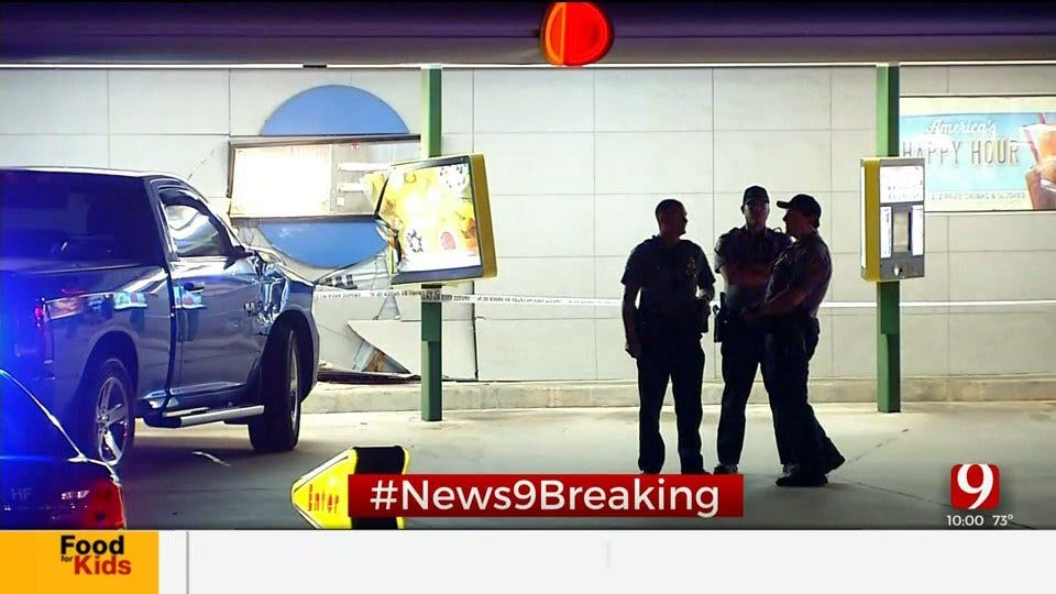 2 Transported To Hospital After Truck Crashes Into NW OKC Sonic