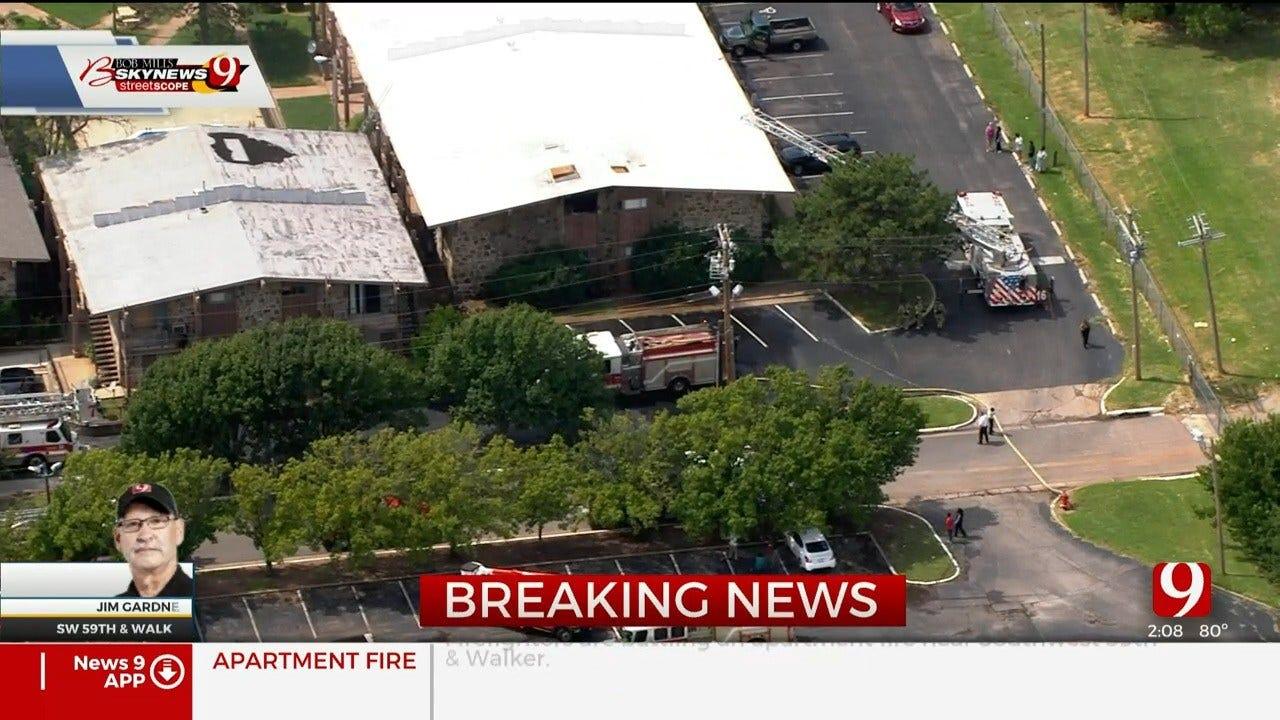Firefighters Battle Apartment Fire In SW OKC