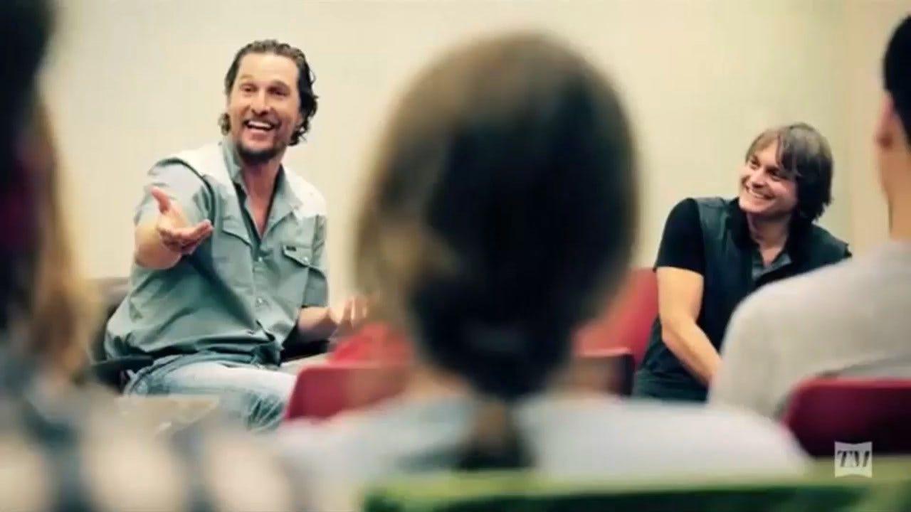 A Look Inside Matthew McConaughey's Script To Screen Class