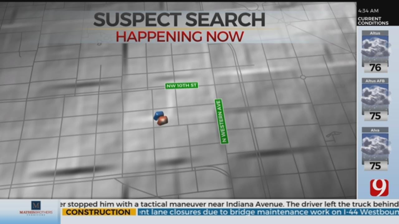 Police Looking For Shooting Suspect In NW OKC