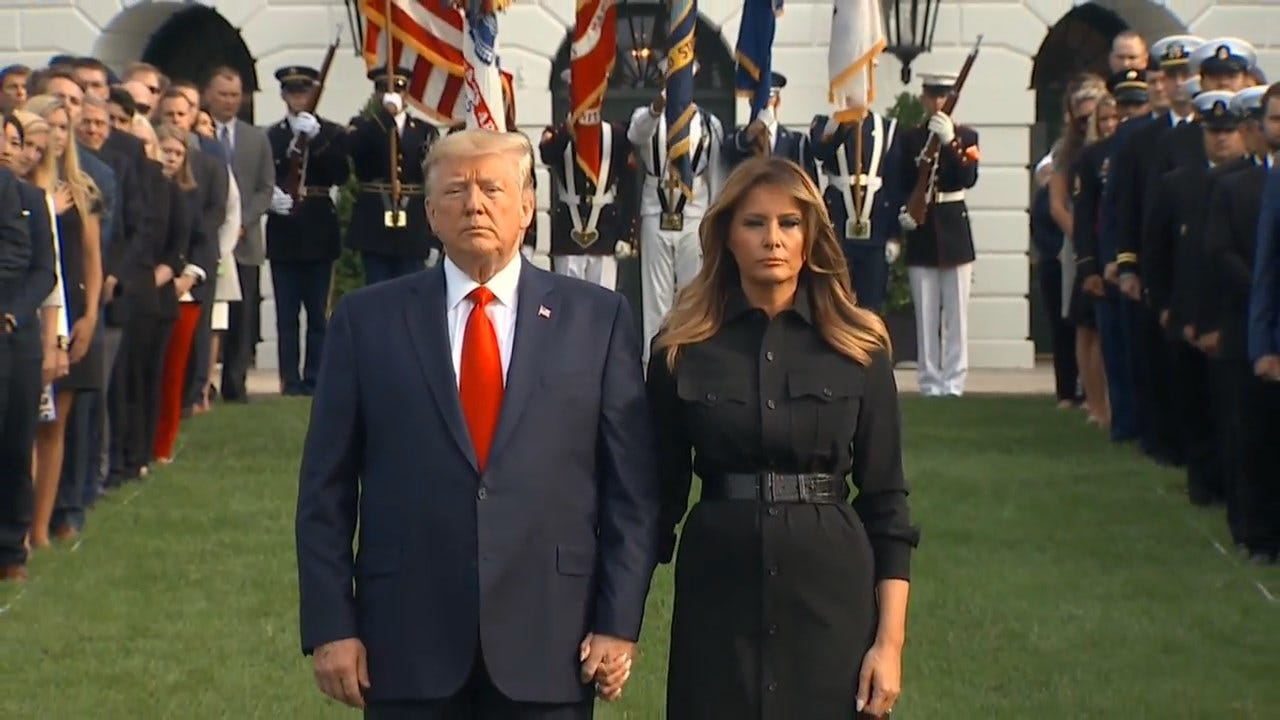 WATCH: President Trump Marks 9/11 Anniversary With Moment Of Silence