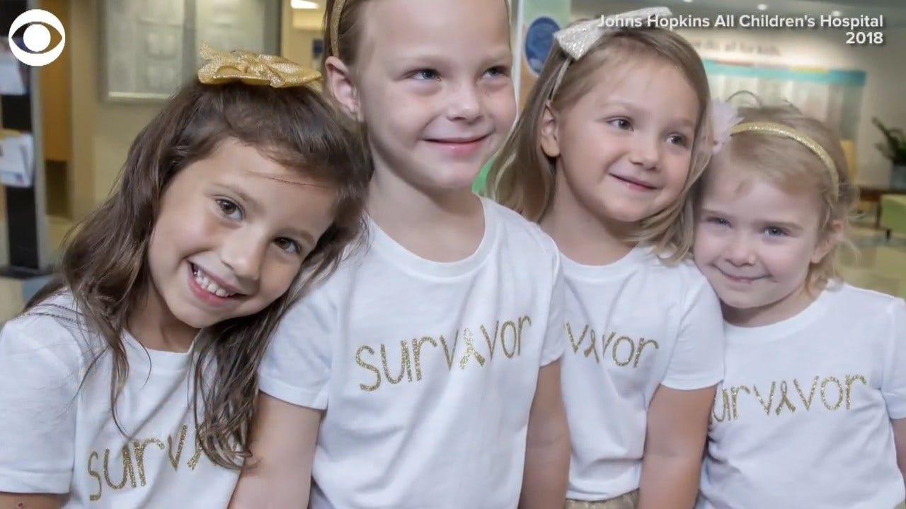 WATCH: Child Cancer Survivors Visit Friend In Their Tutus