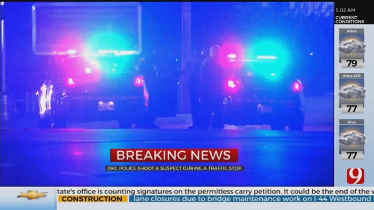 OKC Police Shoot Suspect During Overnight Traffic Stop
