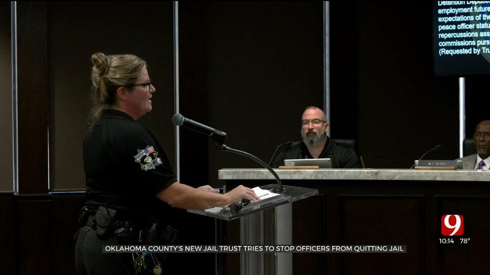 Okla. County Jail Trust Amends Promise Of Future Benefits To Help Stop Staff Departures