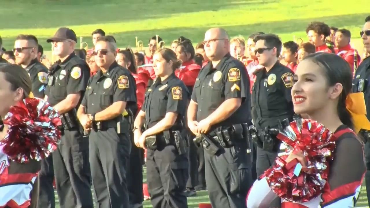 WATCH: High School Rivalry Set Aside To Honor Odessa Shooting Victims