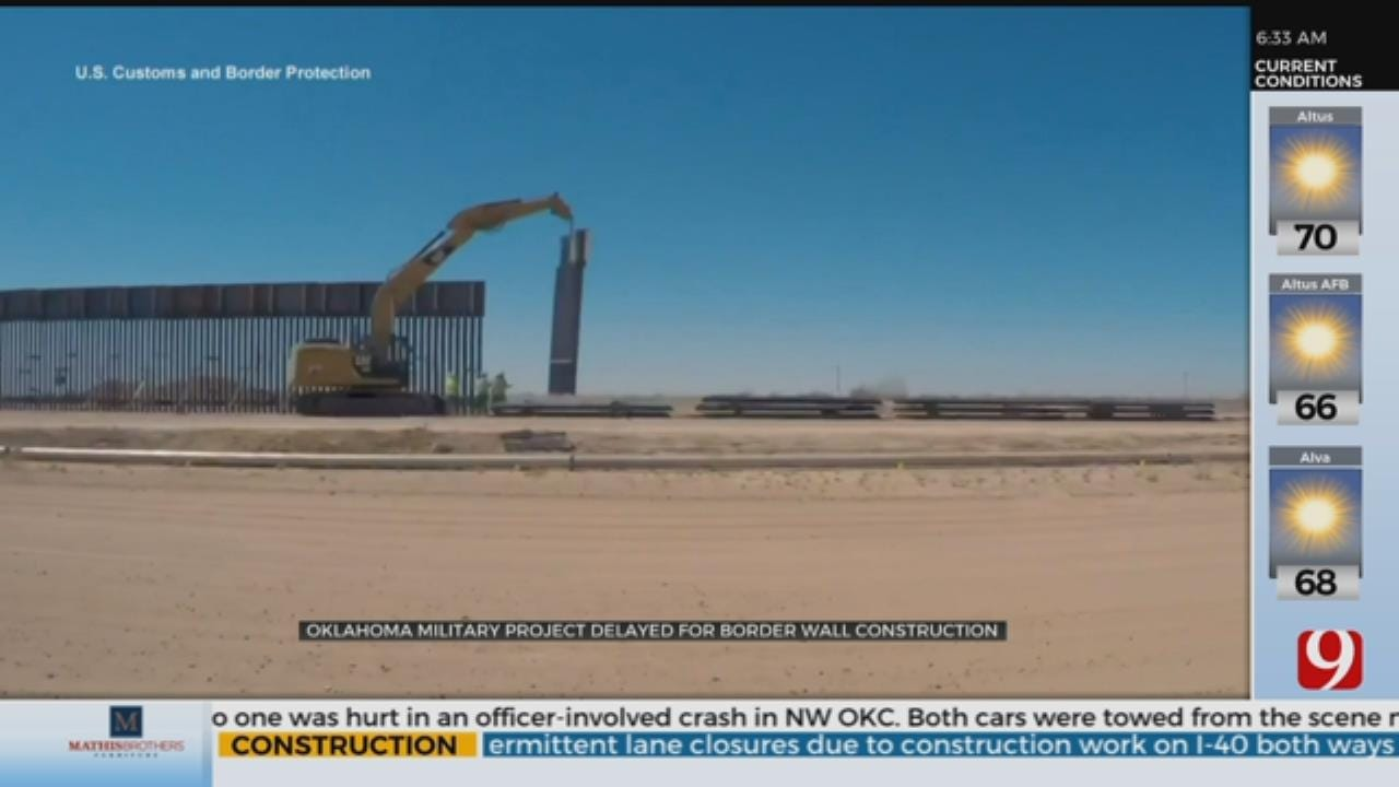 Okla. National Guard Project To Be Delayed, Funds Will Go To Border Wall