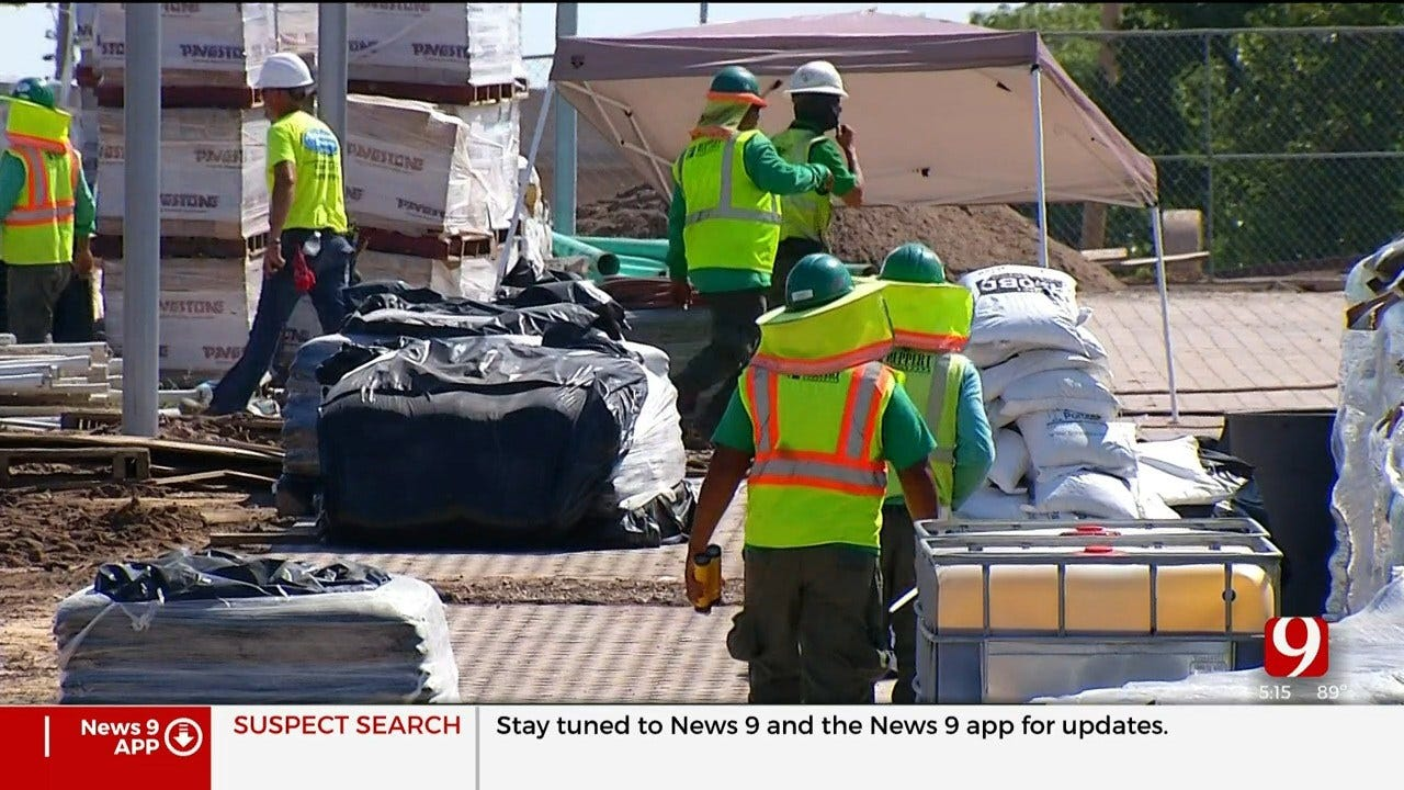 Crews Working Around The Clock As OKC Scissortail Park Opening Inches Closer