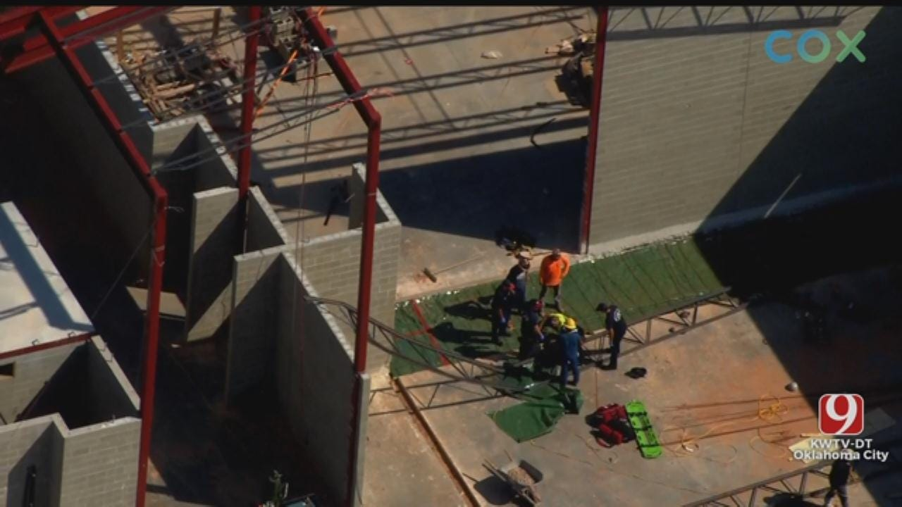 WATCH: Man Falls Of Roof Of Western Heights High School In Construction Accident