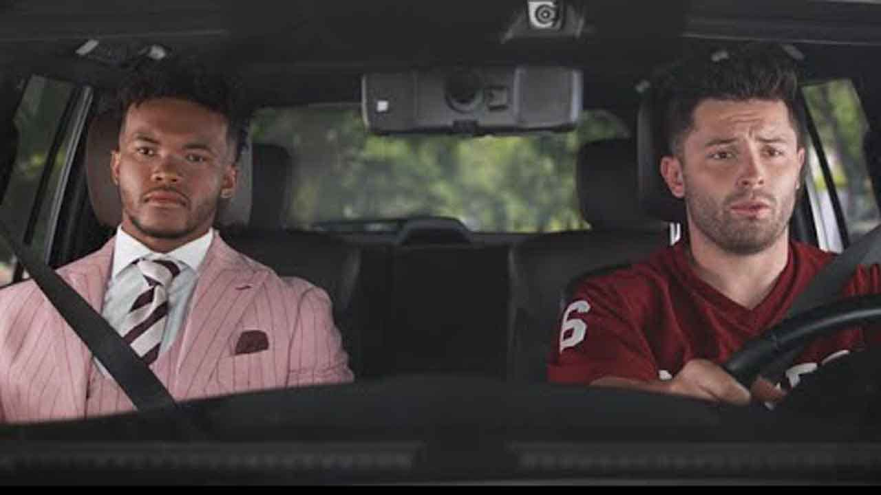 WATCH: Kyler Murray Makes Nissan Heisman House Debut Alongside Baker Mayfield