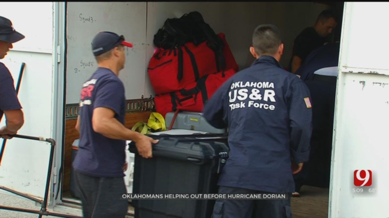 Oklahoma Task Force, First Responders Headed To Help Florida During Hurricane Dorian