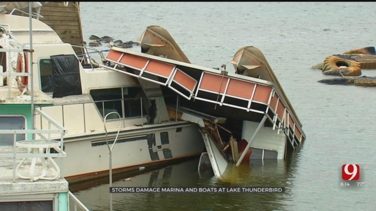Several Boats Damaged, Total Loss At Lake Thunderbird After Severe Storms