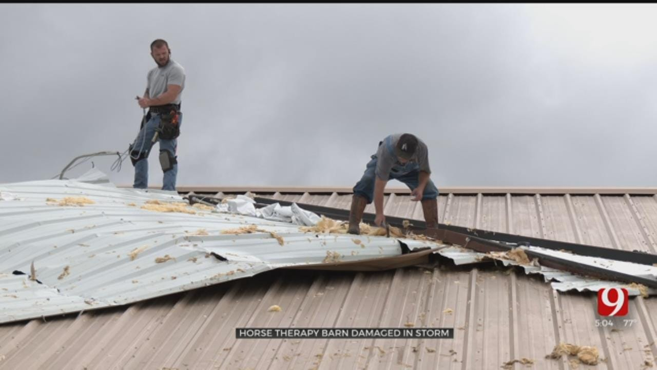 Guthrie Therapy Barn For Horses Damaged After Severe Storm