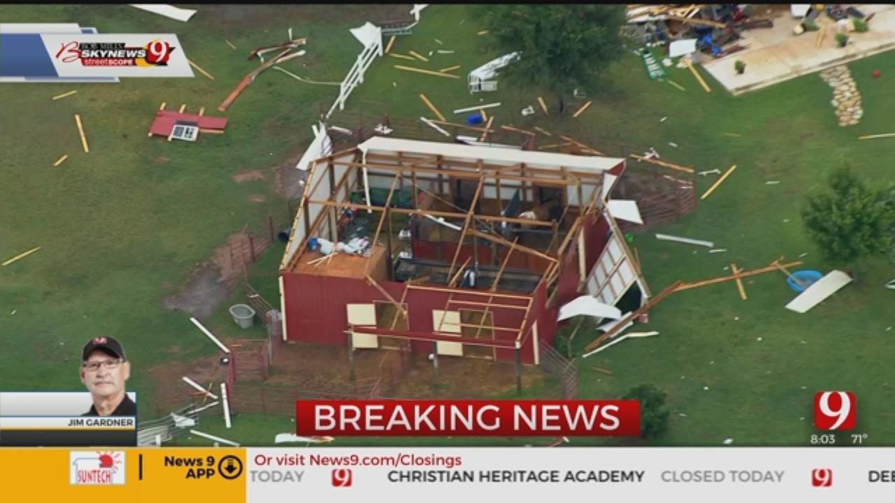 Bob Mills SkyNews 9 Flies Over Tornado Damage In Edmond