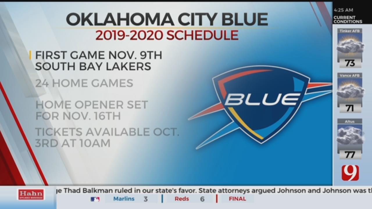 OKC Blue Announces 2019-20 Season Schedule