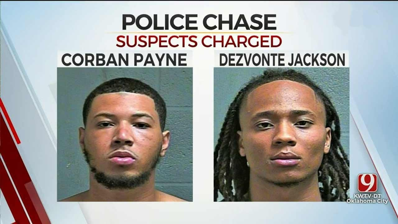 Charges Filed Against 2 OKC Men Involved In Police Chase